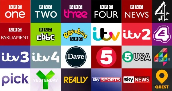UK Free View TV Channels